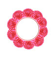 pink dahlia banner wreath vector image