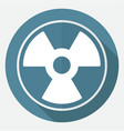 radiation symbol on white circle with a long vector image vector image
