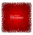 red background with snowflakes design vector image