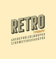retro style vintage font vector image vector image