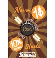 Retro styled beer banner vector image vector image