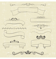 ribbons and ornaments vector image vector image