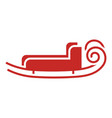 santa sleigh icon simple style vector image