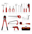 set hardware tool a set hardware tool that vector image