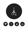 set of 5 editable coiffeur icons includes symbols vector image vector image