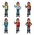 Set of flat pirate icons vector image vector image