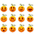 set of pumpkin for halloween vector image