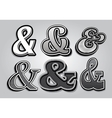 set of stylish ampersands from different fonts vector image