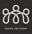 social network bridge logo vector image