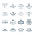 sport balls logo icons set simple style vector image vector image