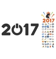 Start 2017 Icon With 2017 Year Bonus Pictograms vector image vector image