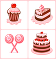 sweet cakes vector image vector image