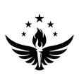 torch wing creative logo concept vector image vector image