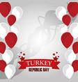 turkey republic day balloons decoration vector image vector image