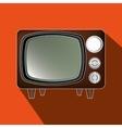 tv retro design vector image vector image