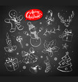 vintage set of chalked christmas objects vector image