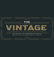 vintage victorian style letters classic serif vector image