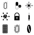 virus icon set vector image vector image