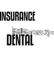 why dental insurance is a must text word cloud vector image vector image