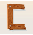 wooden letter c vector image vector image