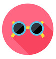 Sun Glasses Circle Icon vector image