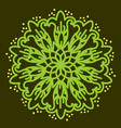 green mandala vector image