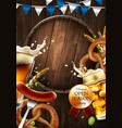 advertising traditional beer festival vector image vector image