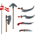 Ancient weapons set vector image