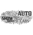 auto trade shows text word cloud concept vector image vector image
