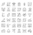 bakery and pastry shop related outline icon set vector image