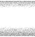 banner with silver sequins vector image