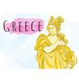 beautiful greek goddess the mythological heroine vector image vector image