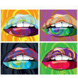 beautiful lips vector image