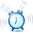 blue alarm clock sounds and vibrates vector image