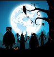 blue backgroundfestival halloween vector image vector image