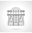 Book shop facade flat line icon vector image vector image