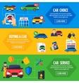 Car Dealership 3 Flat Banners Set vector image vector image