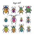 Cartoon bugs in set vector image
