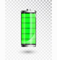 charged battery full charge battery battery vector image vector image