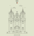 church saint ildefonso in porto portugal vector image vector image