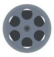cinema film reel icon flat style vector image vector image