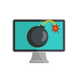 computer virus icon flat style vector image