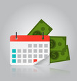 concept of payment date or payday loan like a vector image