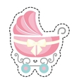 cute cart baby icon vector image vector image