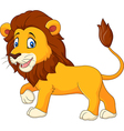 Cute lion walking isolated on white background vector image vector image