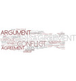 disagreement word cloud concept vector image
