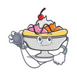doctor banana split character cartoon vector image vector image