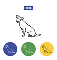 dog line icon vector image vector image