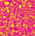 doodle wallpaper vector image vector image