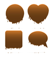 Dripping chocolate shapes vector image